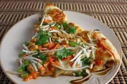 spicy thai chicken pizza